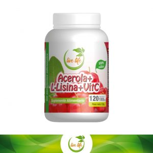 Acerola + L-Lisina + Vit. C 120 cáps.